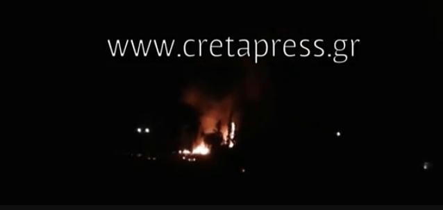 Δάσος Πύργου Μονοφατσίου: Βίντεο την ωρα της Πυρκαγιάς