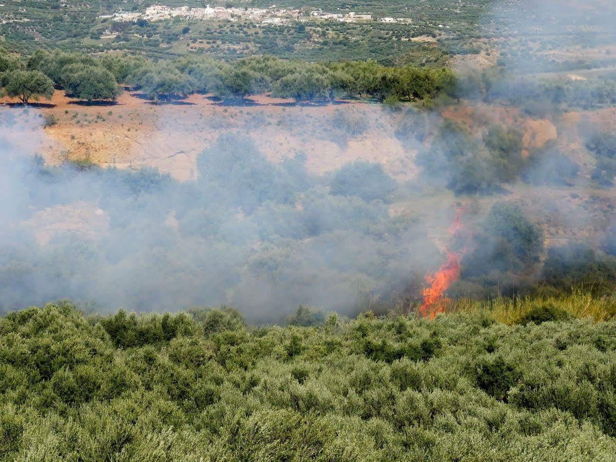 Φωτιά στο Ίνι Μινώα Πεδιάδος (φωτογραφίες)