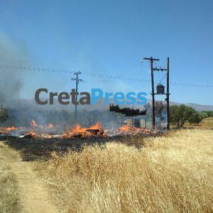 Φωτογραφίες και βίντεο απο την Πυρκαγιά στον Κάμπο της Λιγορτύνου