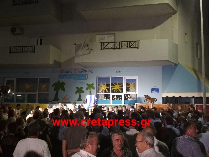Φωτογραφίες και βίντεο από την ονοματοθεσία της Οδού Κωνσταντίνου Μητσοτάκη στο Δήμο Μαλεβιζίου