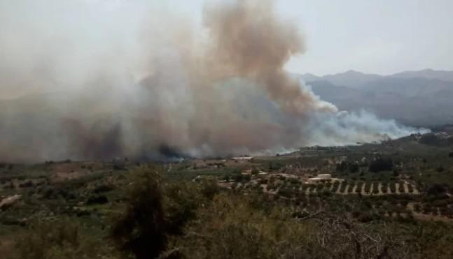 Χανιά: Ανεξέλεγκτη η πυρκαγιά, απειλεί σπίτια στον Αποκόρωνα