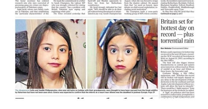 Πρωτοσέλιδο στους βρετανικούς Times η ιστορία των δύο δίδυμων κοριτσιών