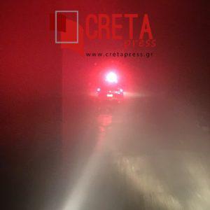 Αυτοκίνητο έπεσε σε χαντάκι στον δρόμο του Κουδουμά