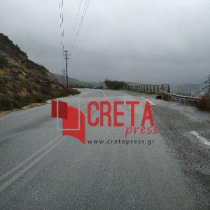 Επικίνδυνο σημείο υποχωρεί στον δρόμο από Λιγόρτυνο προς Τεφέλι