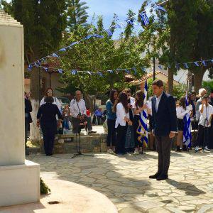 Ο Λευτέρης Αυγενάκης στην επέτειο της Μάχης της Κρήτης στο Χάρακα