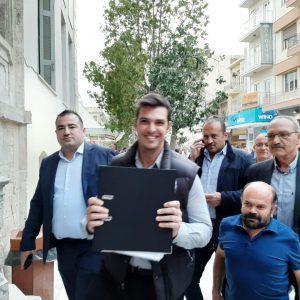 Κατάθεση υποψηφιότητας του Συνδυασμού «Η Κρήτη Μπροστά» με επικεφαλής τον Αλέξανδρο Μαρκογιαννάκη