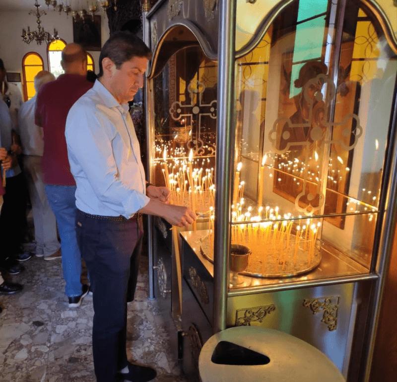 Ο Λευτέρης Αυγενάκης στην Ιερά Μονή Καλιβινανής