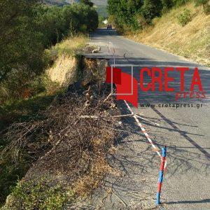 Χανιά: Επικίνδυνος ο δρόμος για το χωριό Πανέθυμος