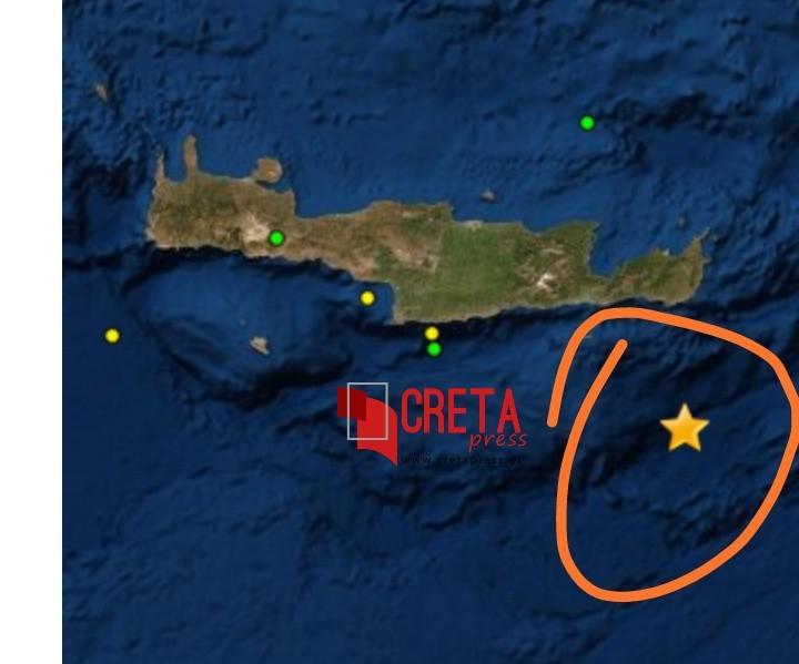 Σεισμός 5 Ρίχτερ στη νότια Κρήτη