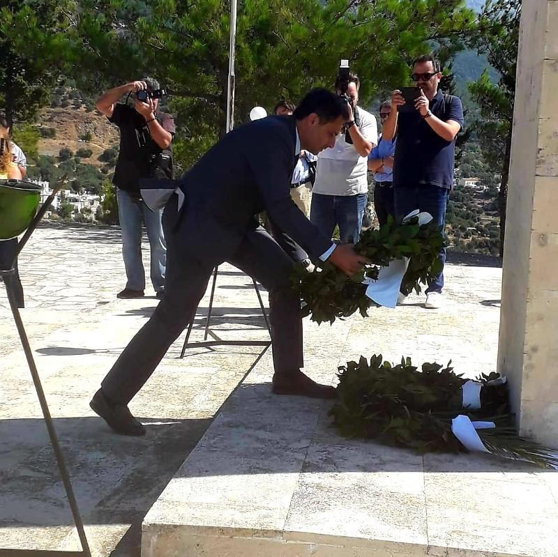 Ο Μάξιμος Σενετάκης στην 76η επετείο του Ολοκαυτώματος της Βιάννου