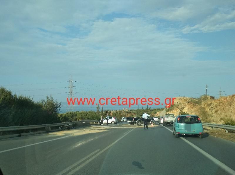 Προσοχή στο δρόμο από βιομηχανική προς Σκαλάνι