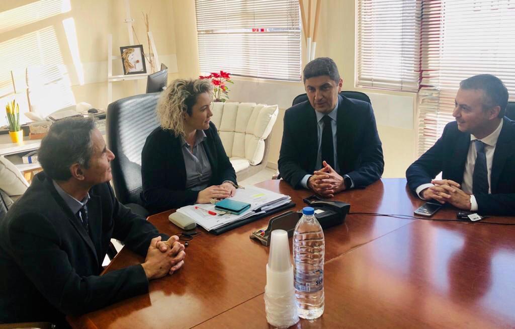 Συνάντηση Λ. Αυγενάκη με την Διοικήτρια της 7ης ΥΠΕ Κρήτης και τους Υποδιοικητές
