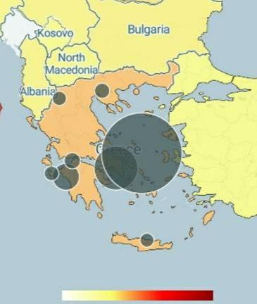 Online Χάρτης με την εξάπλωση του κορονοϊού στην Ελλάδα