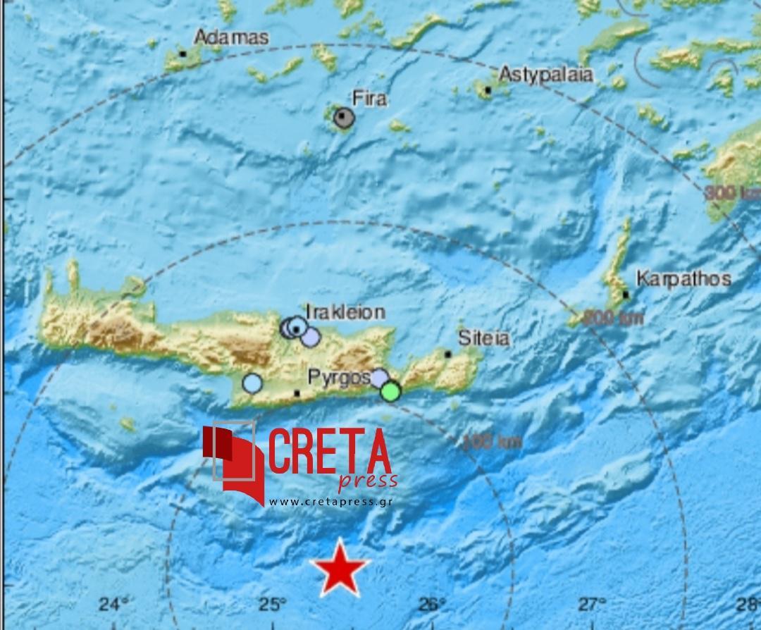 Άλλος ένας σεισμός στα νότια της Κρήτης