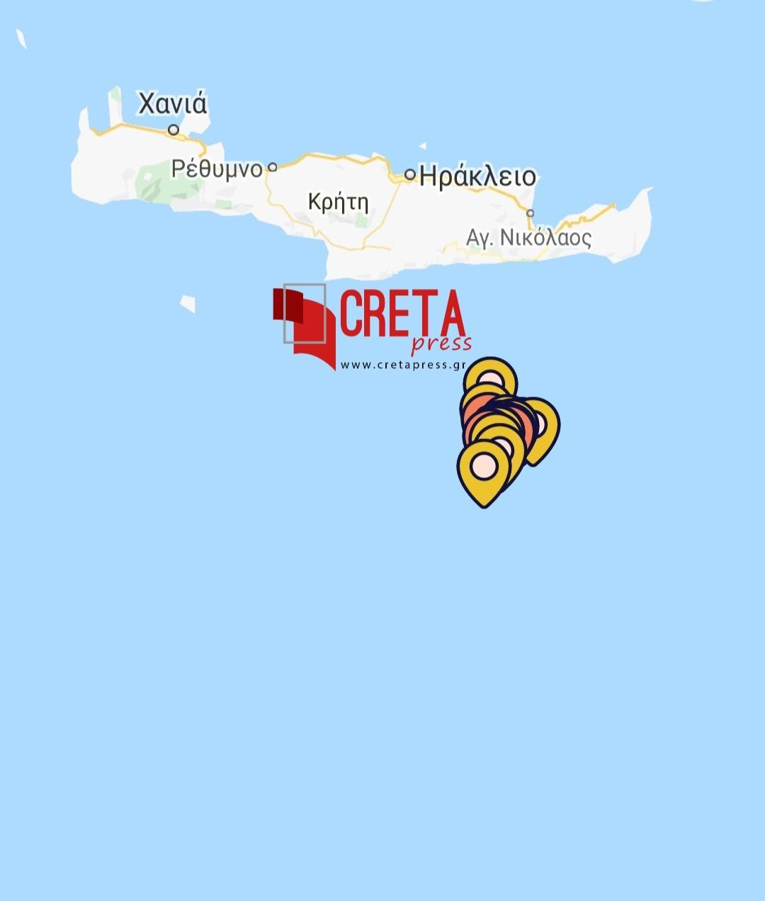 Συνεχίζεται ο χορός των ρίχτερ στα νότια της Κρήτης