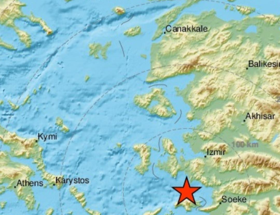Δυνατός σεισμός στην Σάμο