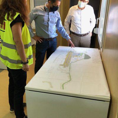 Επίσκεψη Σενετάκη στο εργοτάξιο του Αεροδρομίου Καστελίου