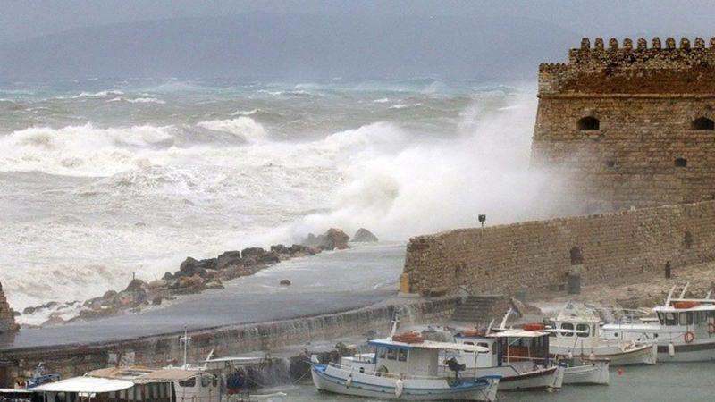 Έντονα καιρικά φαινόμενα στην Κρήτη έως αύριο