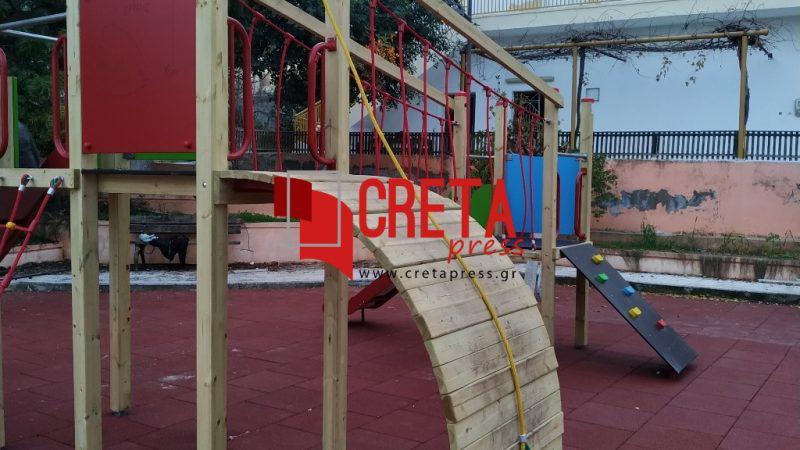 Πύργος Μονοφατσίου: Διαμορφώθηκε η παιδική χαρά