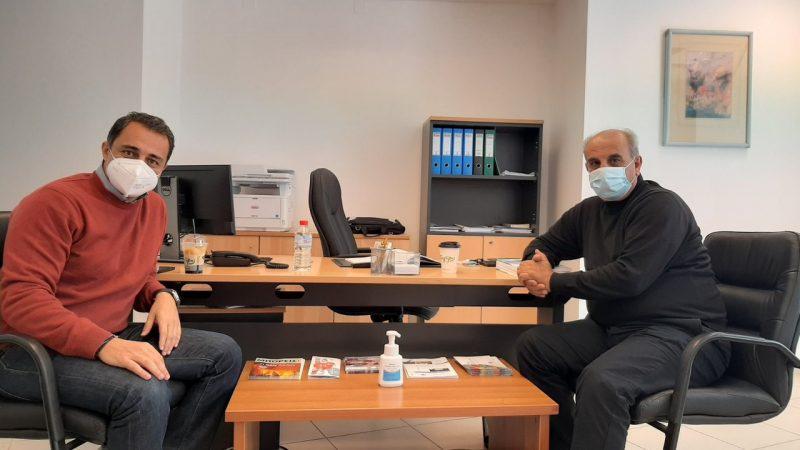 Συνάντηση με τον Συντονιστή Πολιτικής Προστασίας, αντιστράτηγο ε.α. Μανώλη Παραβολιδάκη