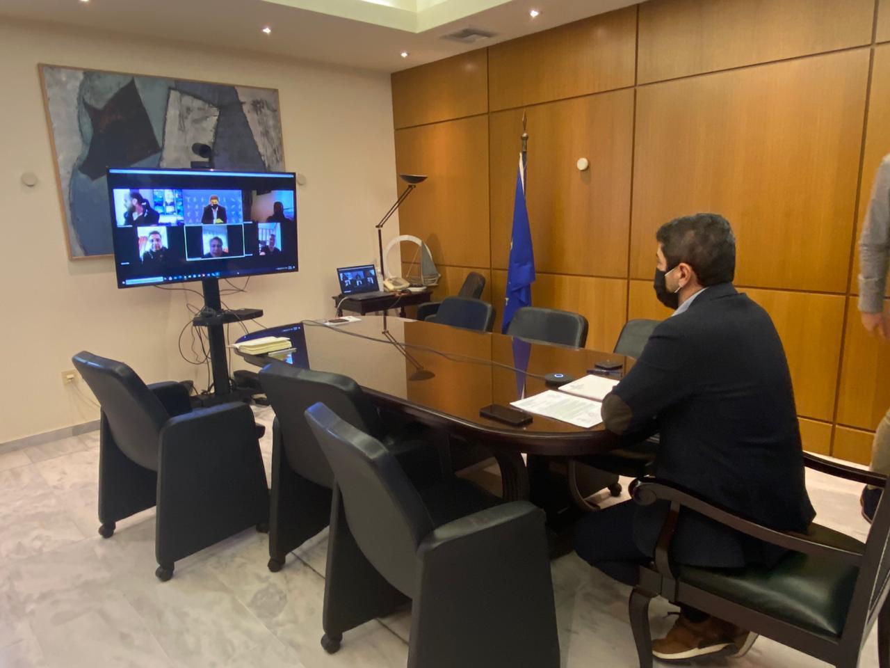 Διαδικτυακή Συνάντηση Υφ. Αθλητισμού Λ. Αυγενάκη με τον Σύλλογο Επαγγελματιών Πρακτόρων ΟΠΑΠ Ν. Ηρακλείου