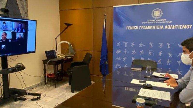 Τηλεδιάσκεψη του Υφ. Αθλητισμού Λ. Αυγενάκη με τον Εμπορικό Σύλλογο Ηρακλείου για την επόμενη ημέρα στο λιανεμπόριο